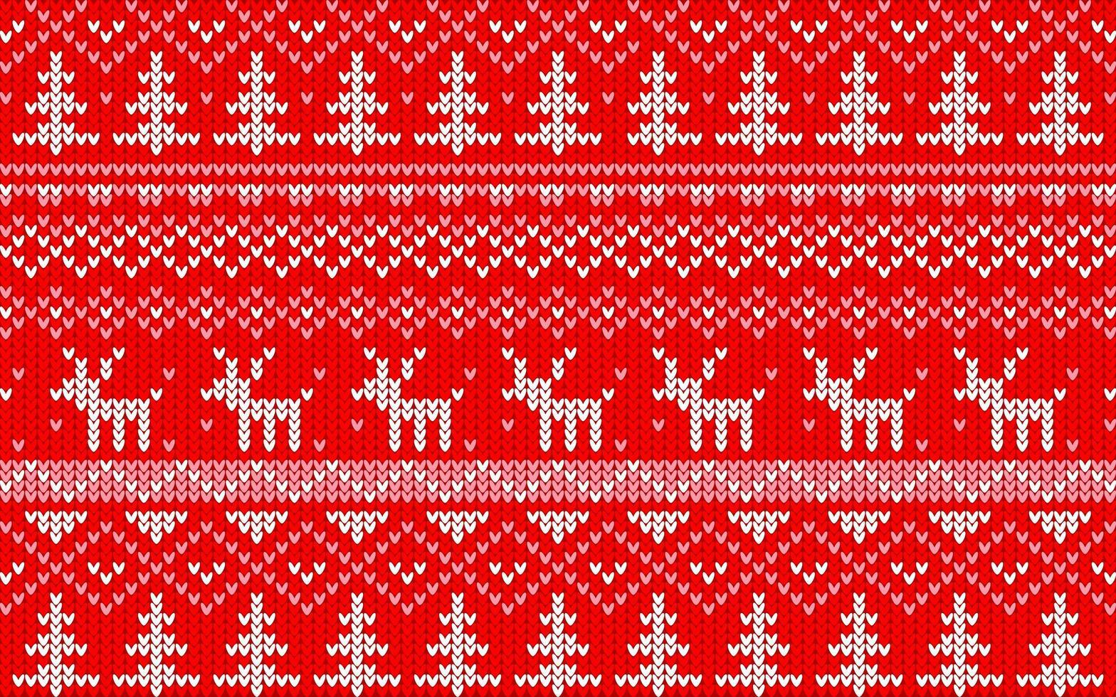 kerst jaquard patroon rood en wit vector