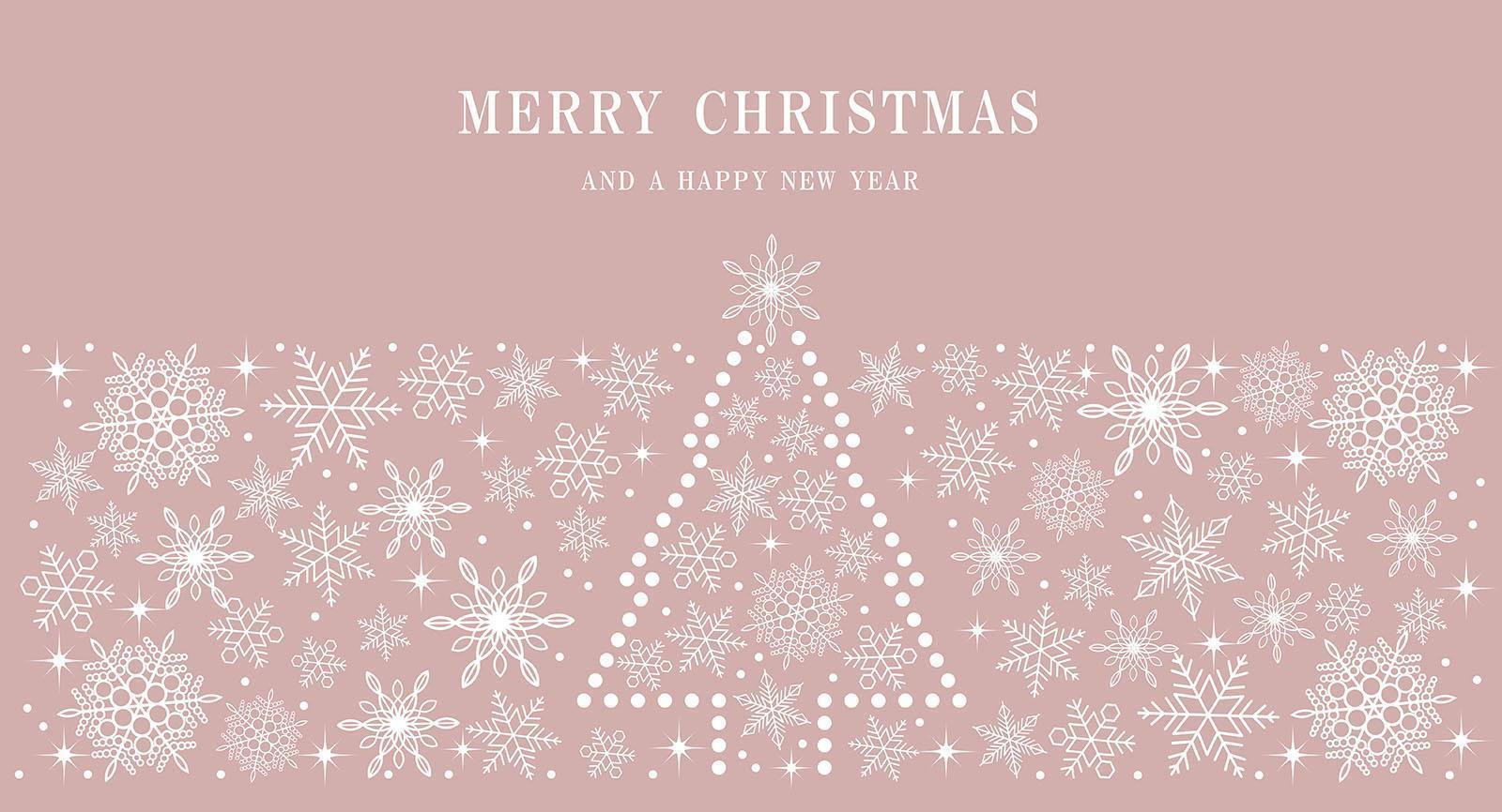 prettige kerstdagen en gelukkig nieuwjaar achtergrond vector