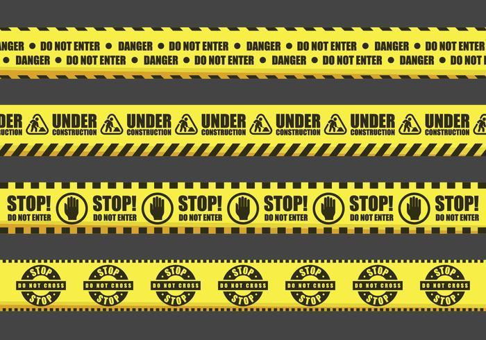 Waarschuwing Tape Vector Signs