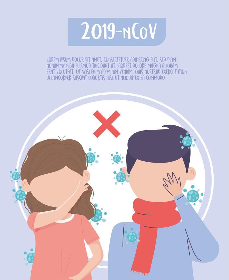 coronavirus preventieve sjabloon poster vector