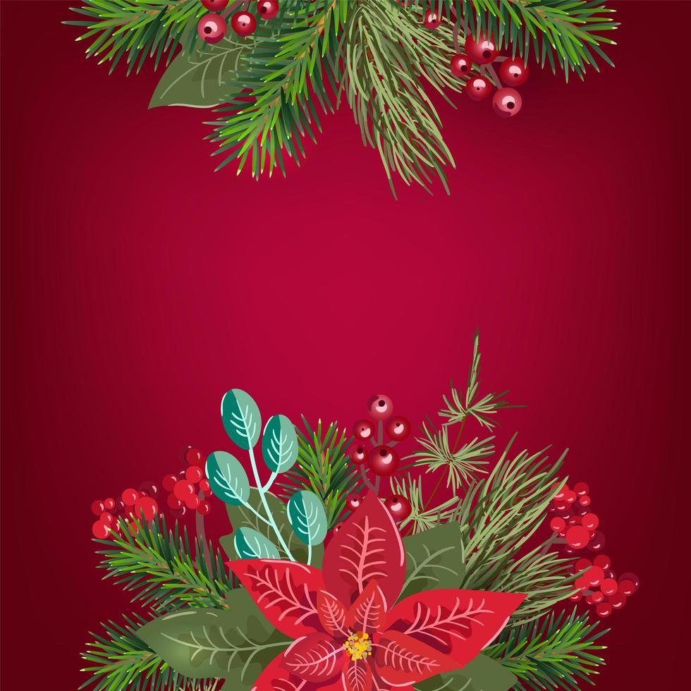 vrolijk kerstfeest uitnodiging wenskaart achtergrond vector