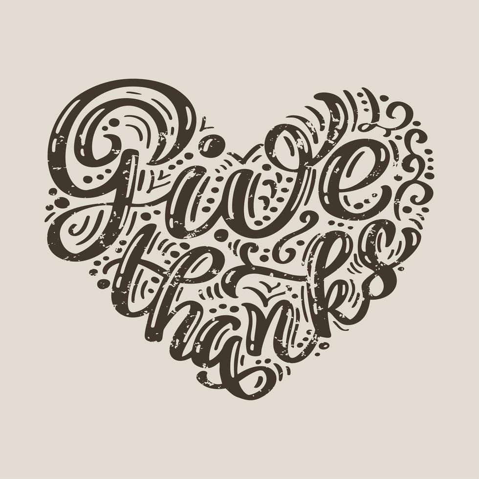 dank kalligrafietekst vector