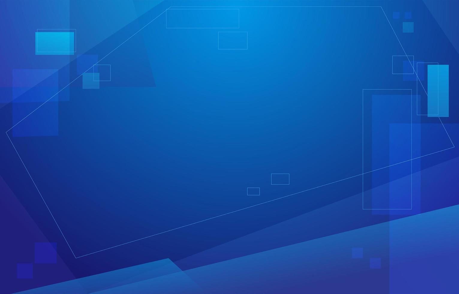 geometrische vierkante blauwe achtergrond vector