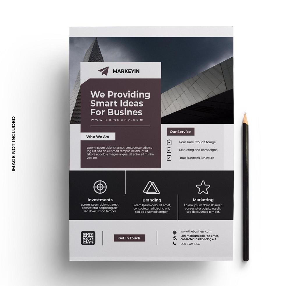 platte zakelijke flyer sjabloonontwerp vector