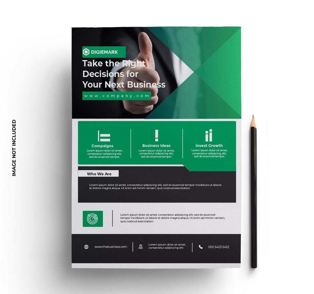 zakelijke bedrijfsklare brochure folder vector