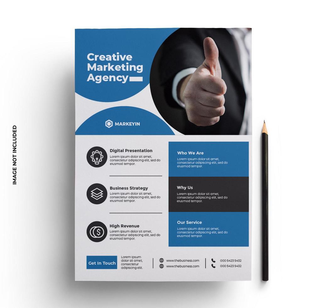 blauw flyer ontwerp vector