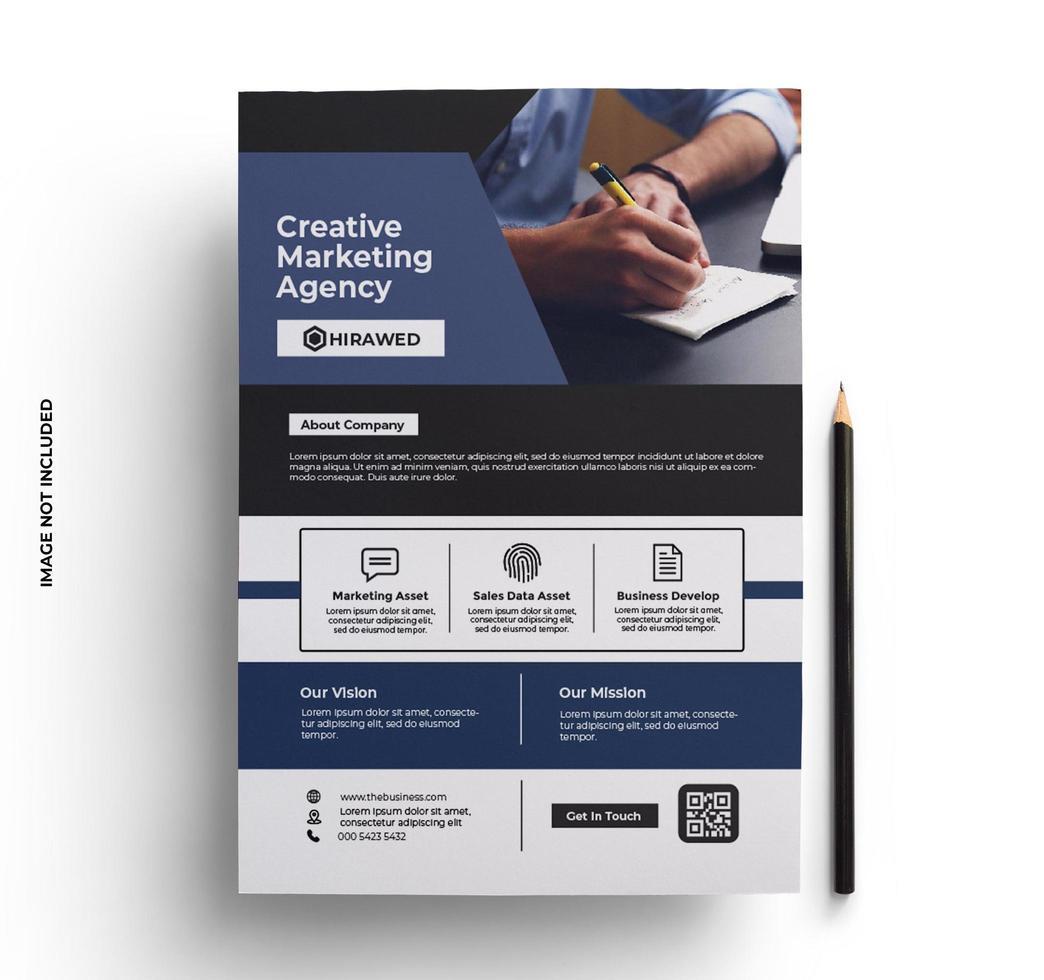 flyer design corporate in a4 formaat vector