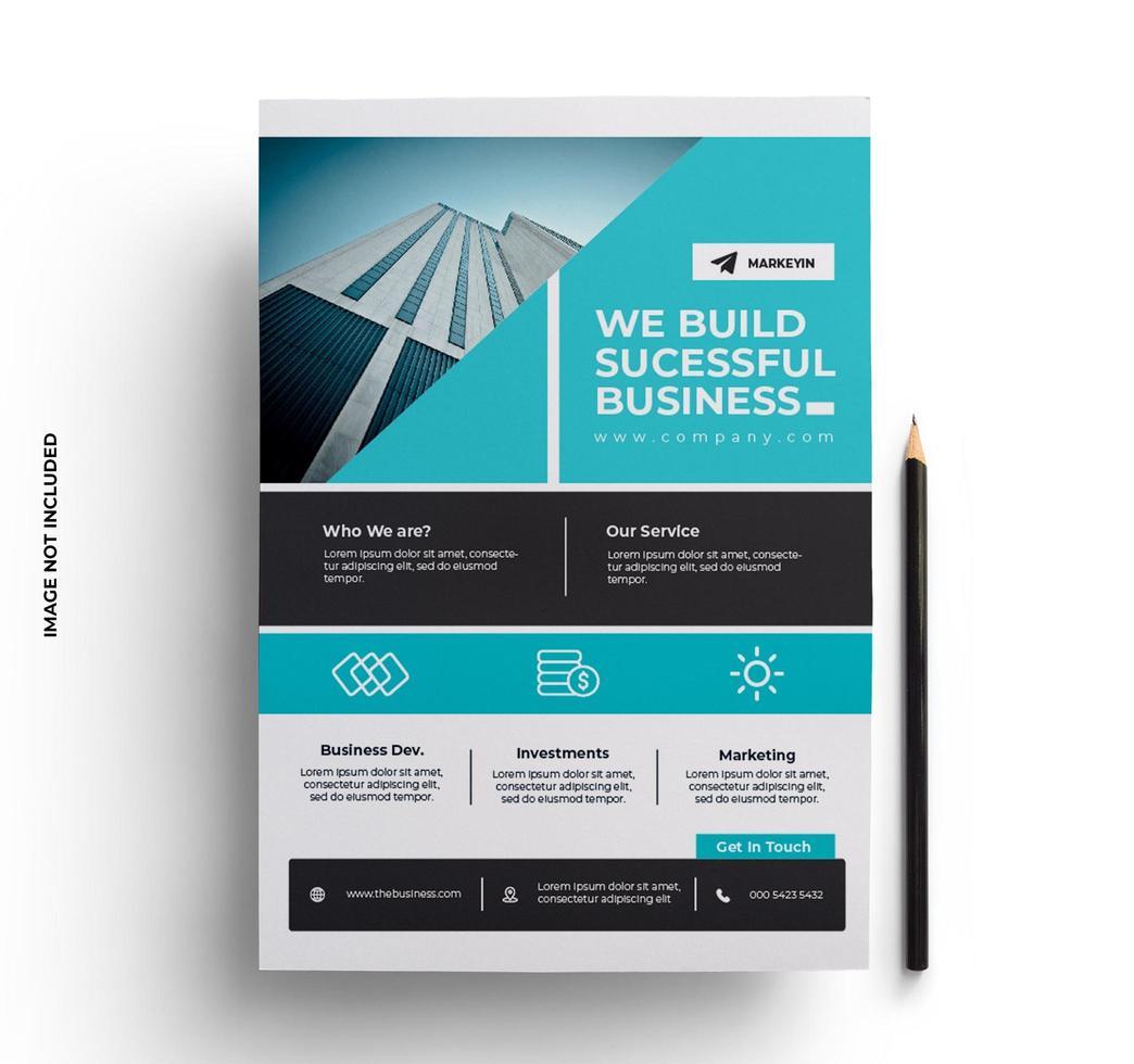 bedrijfslay-out moderne slanke zakelijke flyer-sjabloon vector