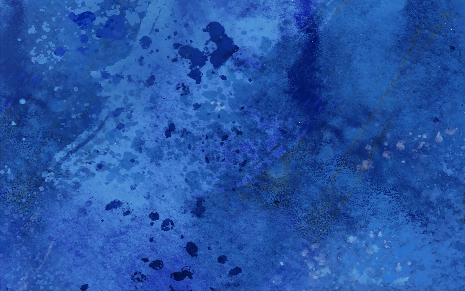 blauwe aquarel vlekken en druppels vector