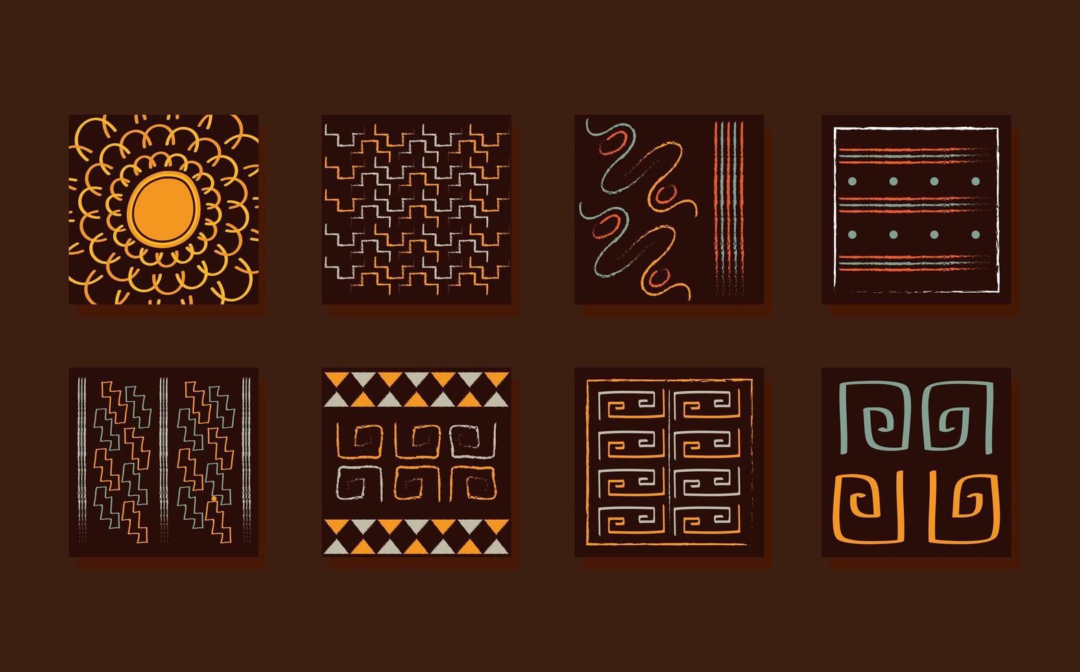 etnische ornament tegel set vector
