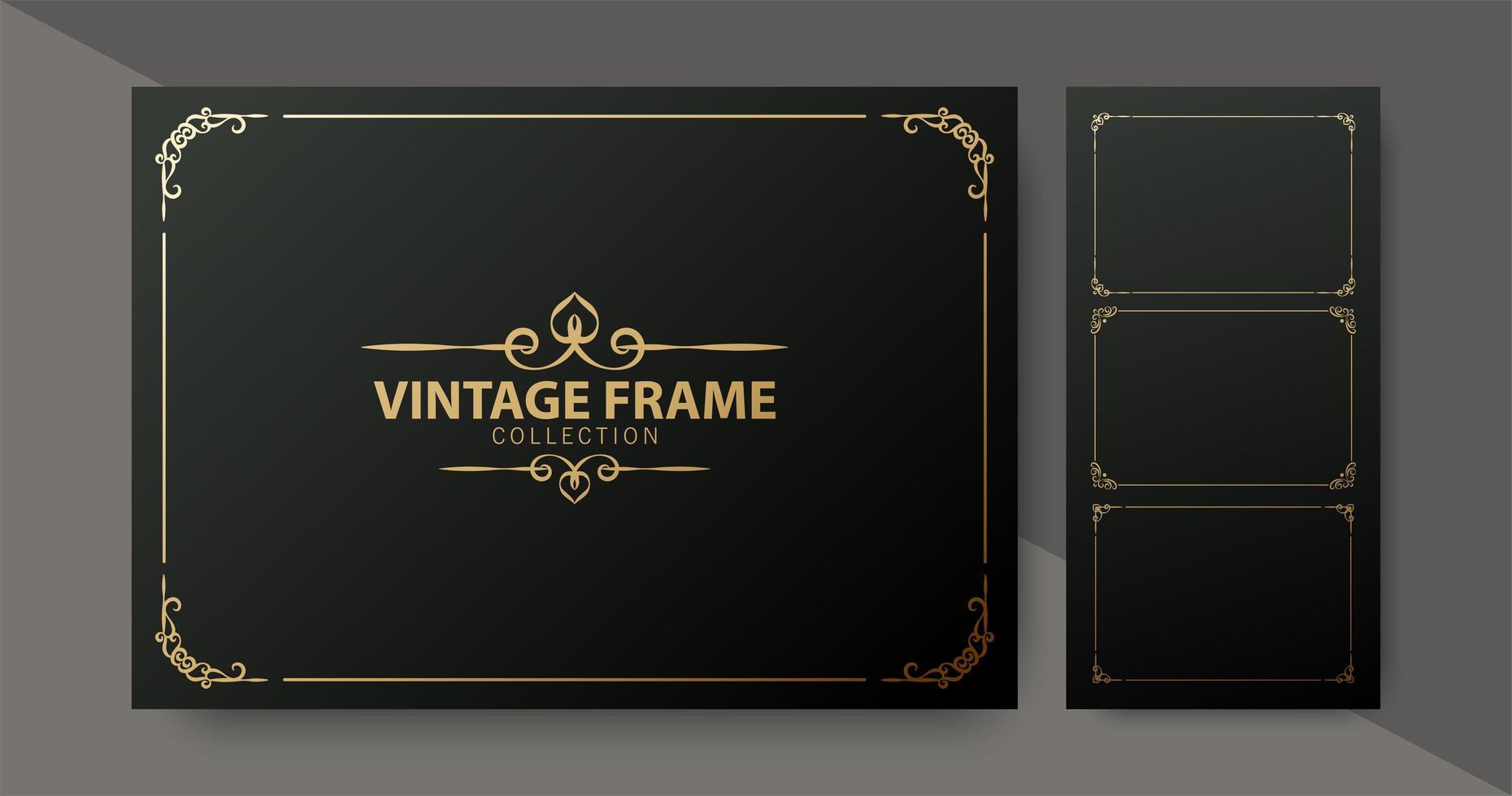 luxe vintage sierlijstcollectie vector