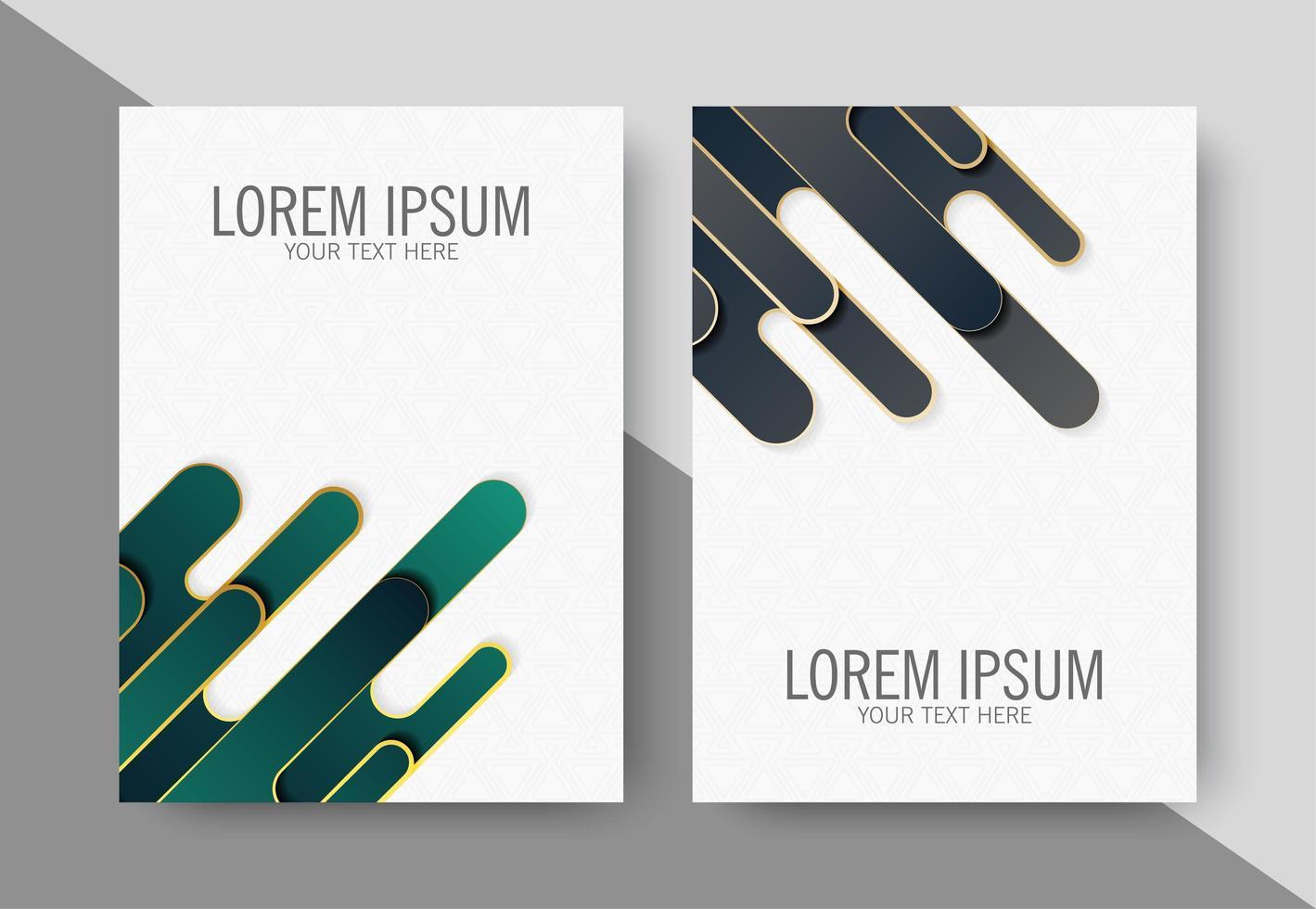 moderne abstracte omslagen vector