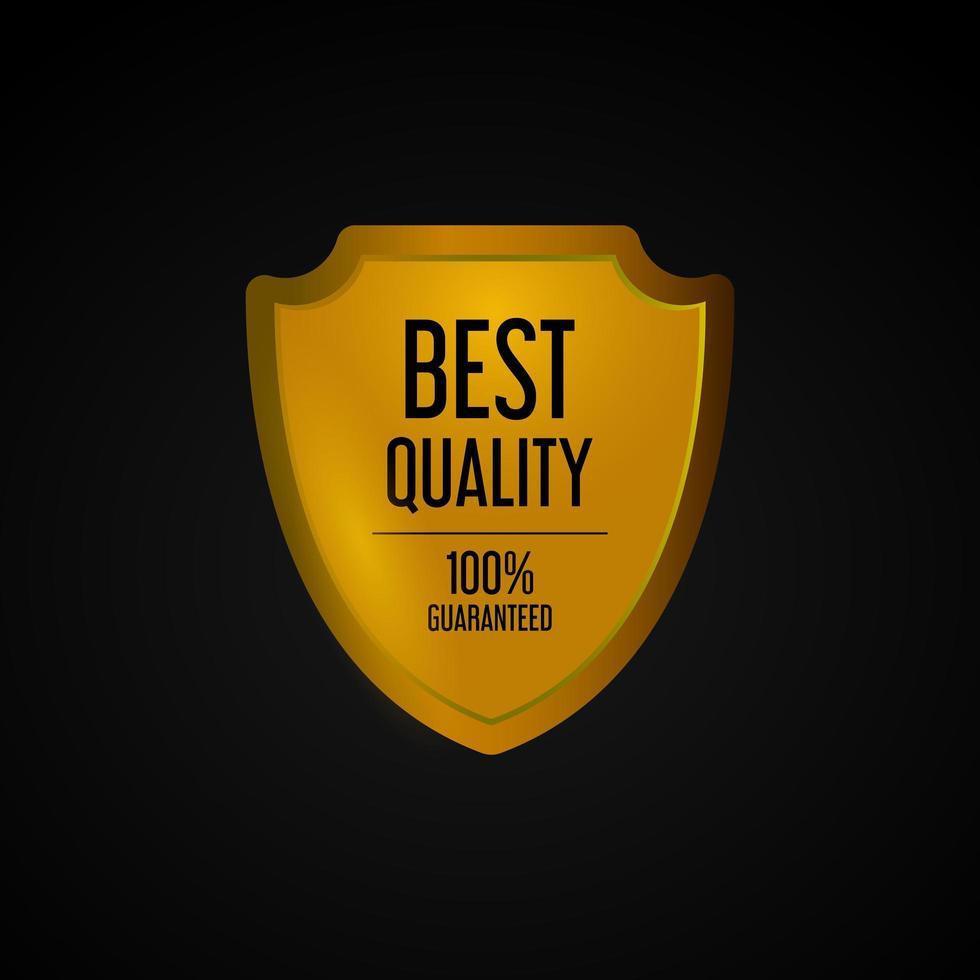 gouden onderscheiding voor beste kwaliteit vector