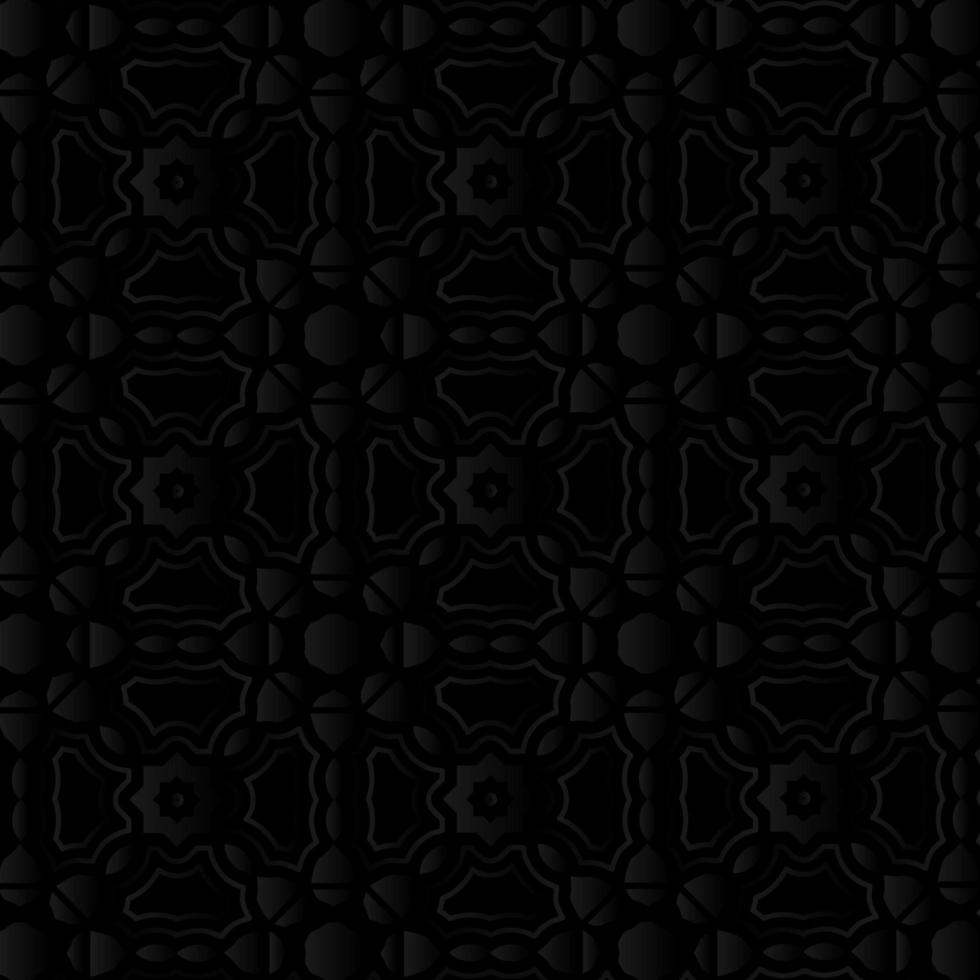 zwart sier abstract bloemenpatroon vector
