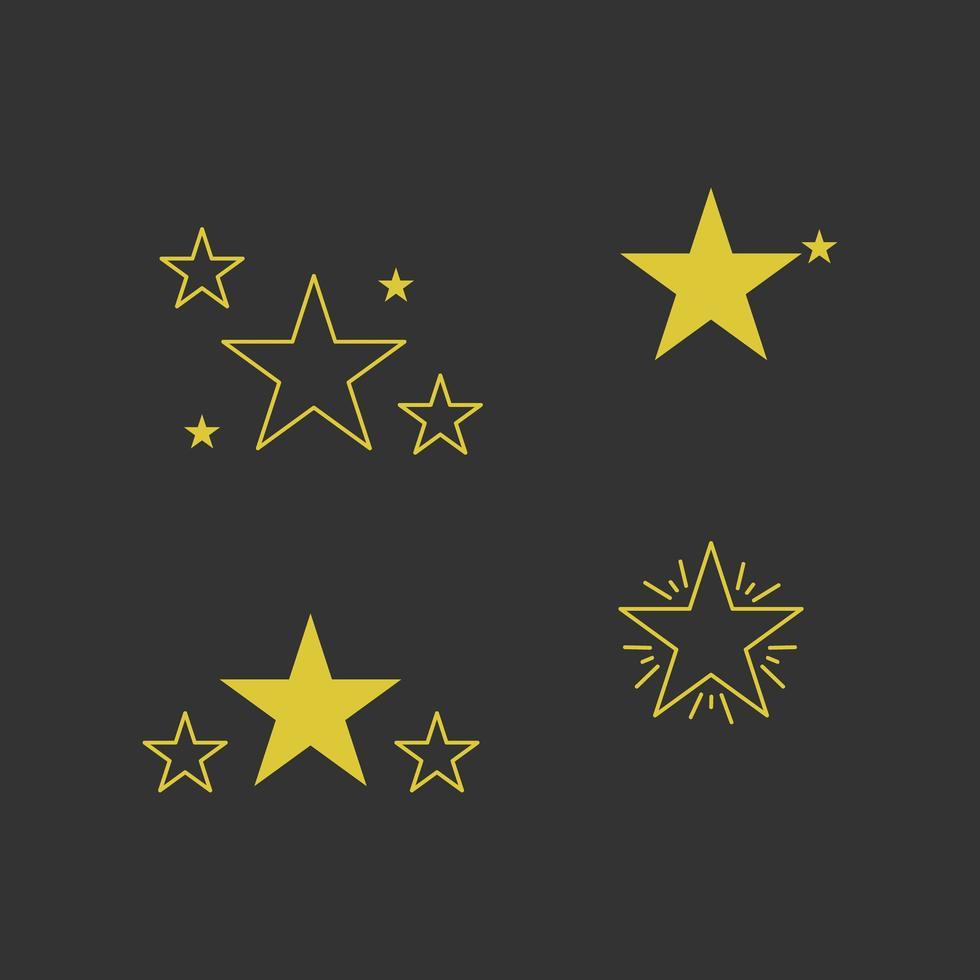 gele ster collectie vector
