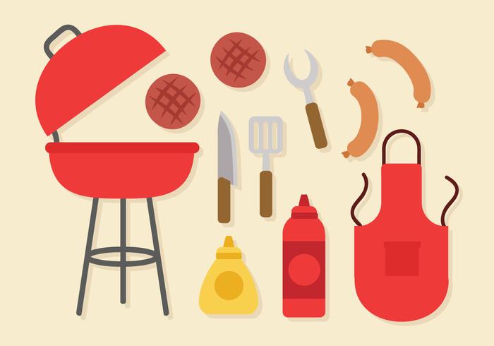 Gratis Barbecue Elements Vector