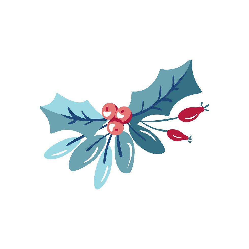 kerst hulst plant vector
