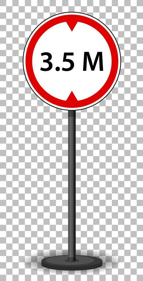 rood verkeersbord vector