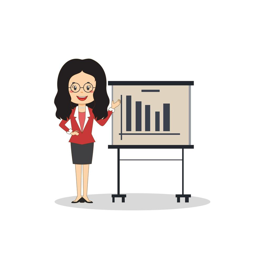 zakenvrouw presenteren vector