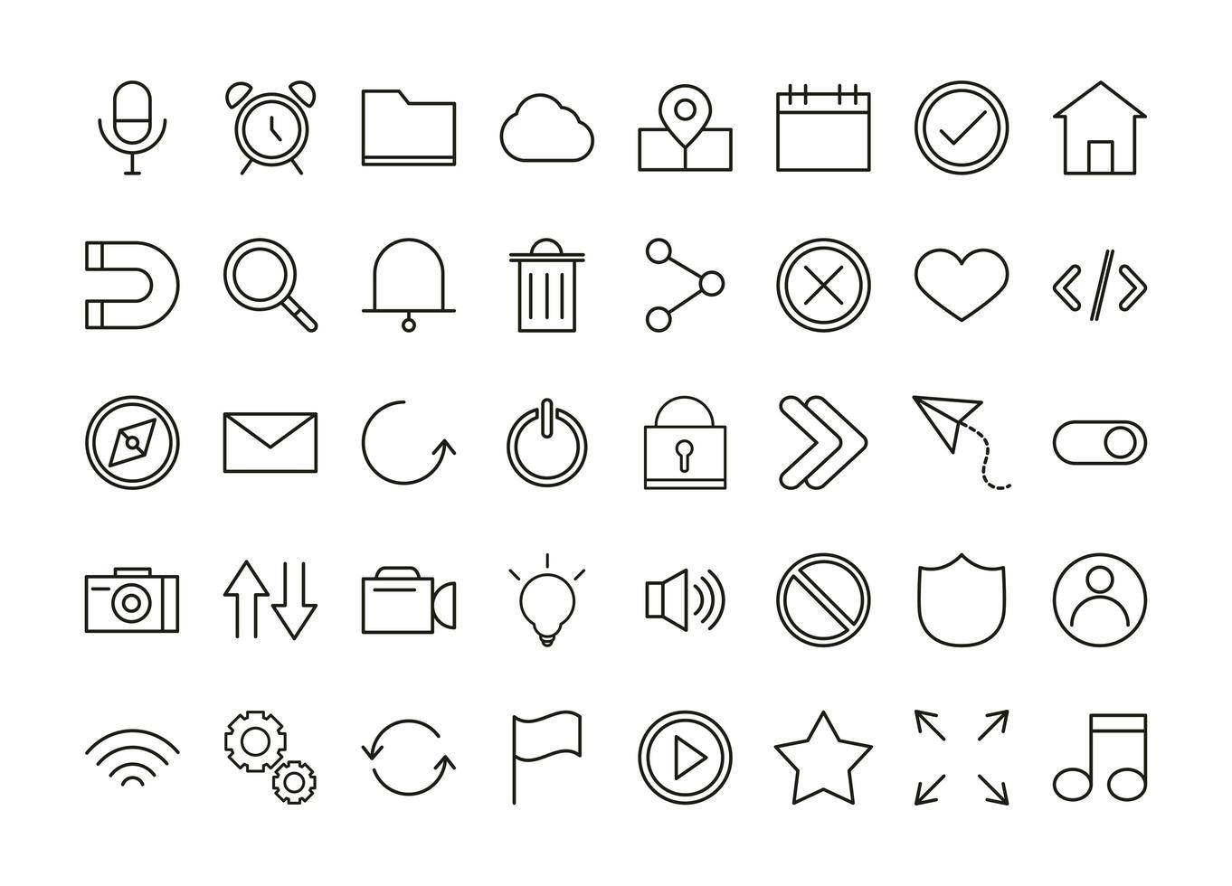 gebruikersinterface icon set vector