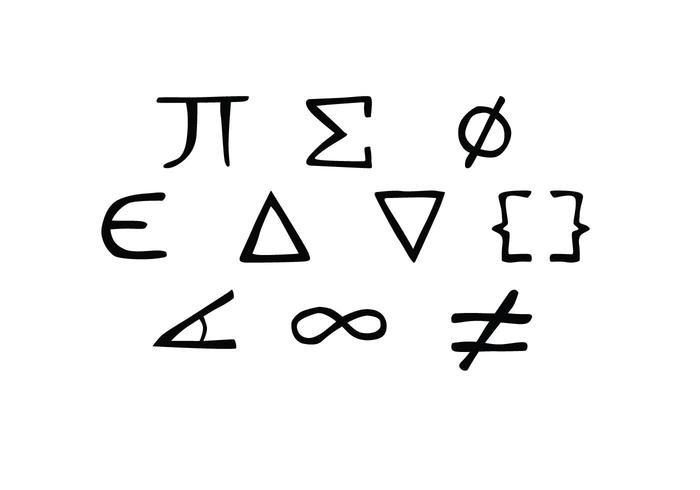 Gratis Hand Drawn Math symbool Vector