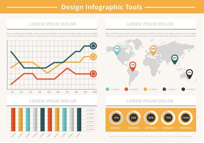 Gratis Flat Infographic Vector Elementen