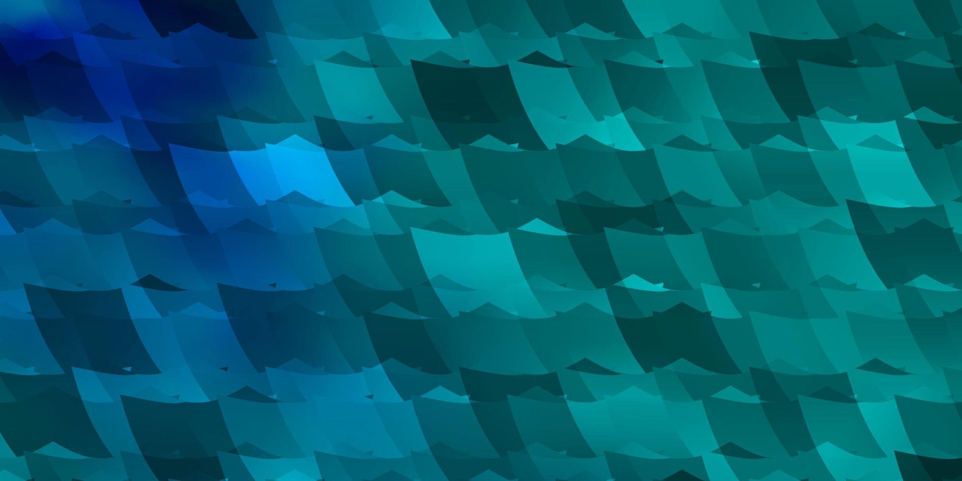 blauwe en groene achtergrond met vormen. vector