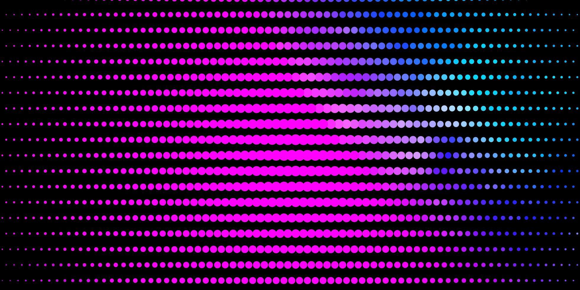 roze en blauwe achtergrond met cirkels. vector