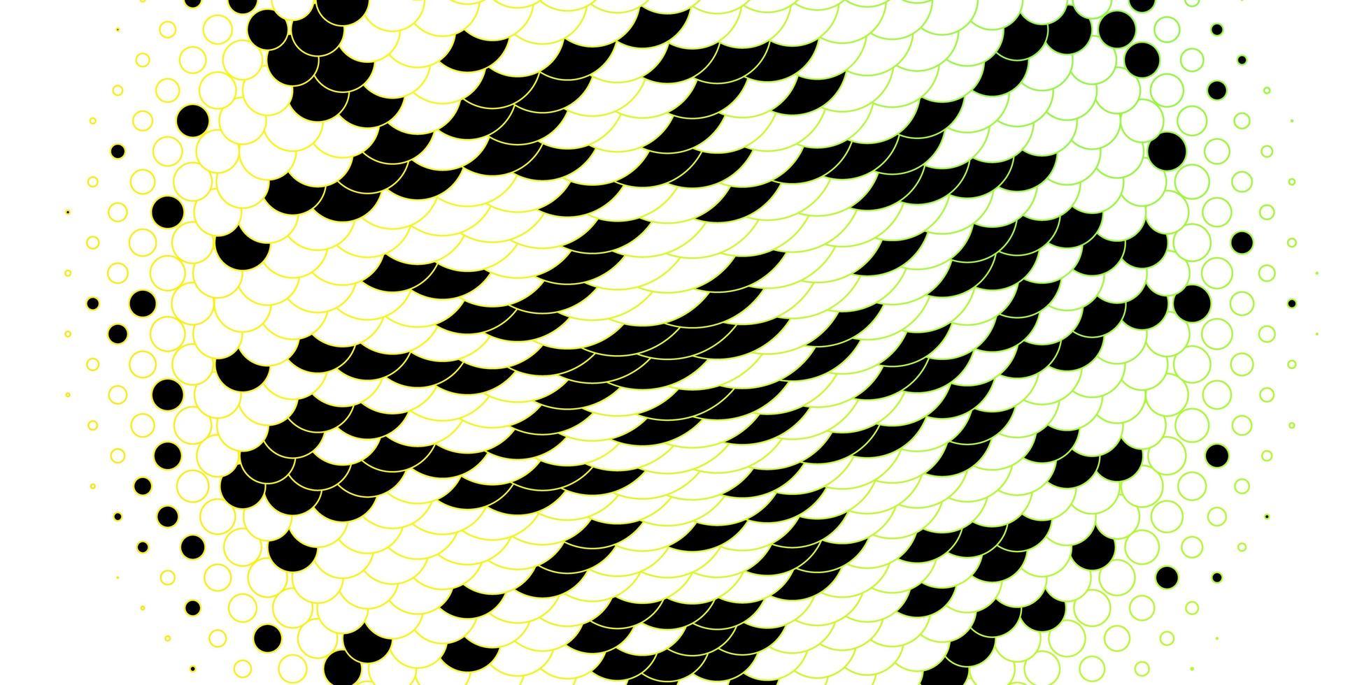 lichtgroene en gele lay-out met cirkelvormen. vector