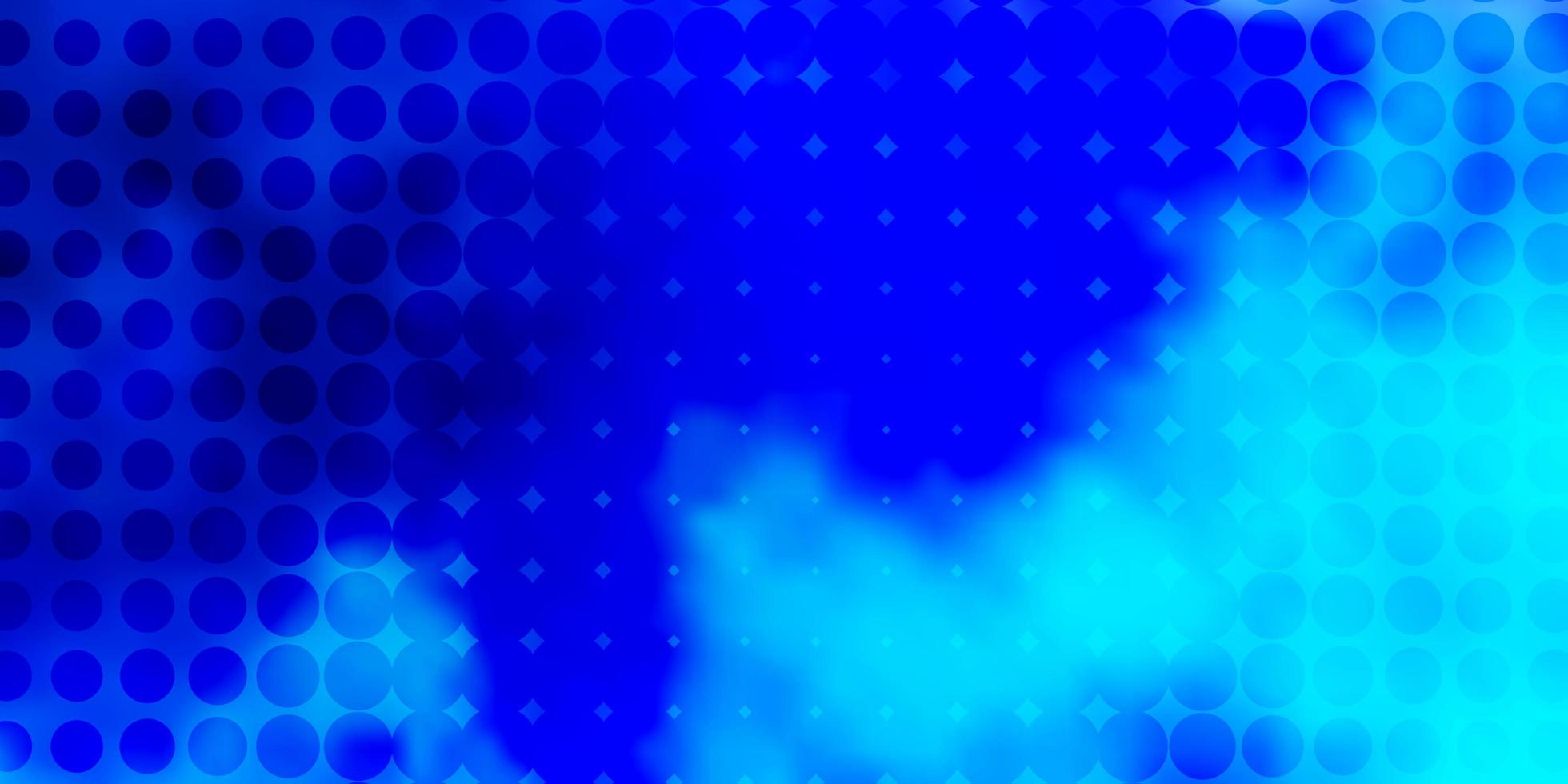 blauw patroon met bollen. vector