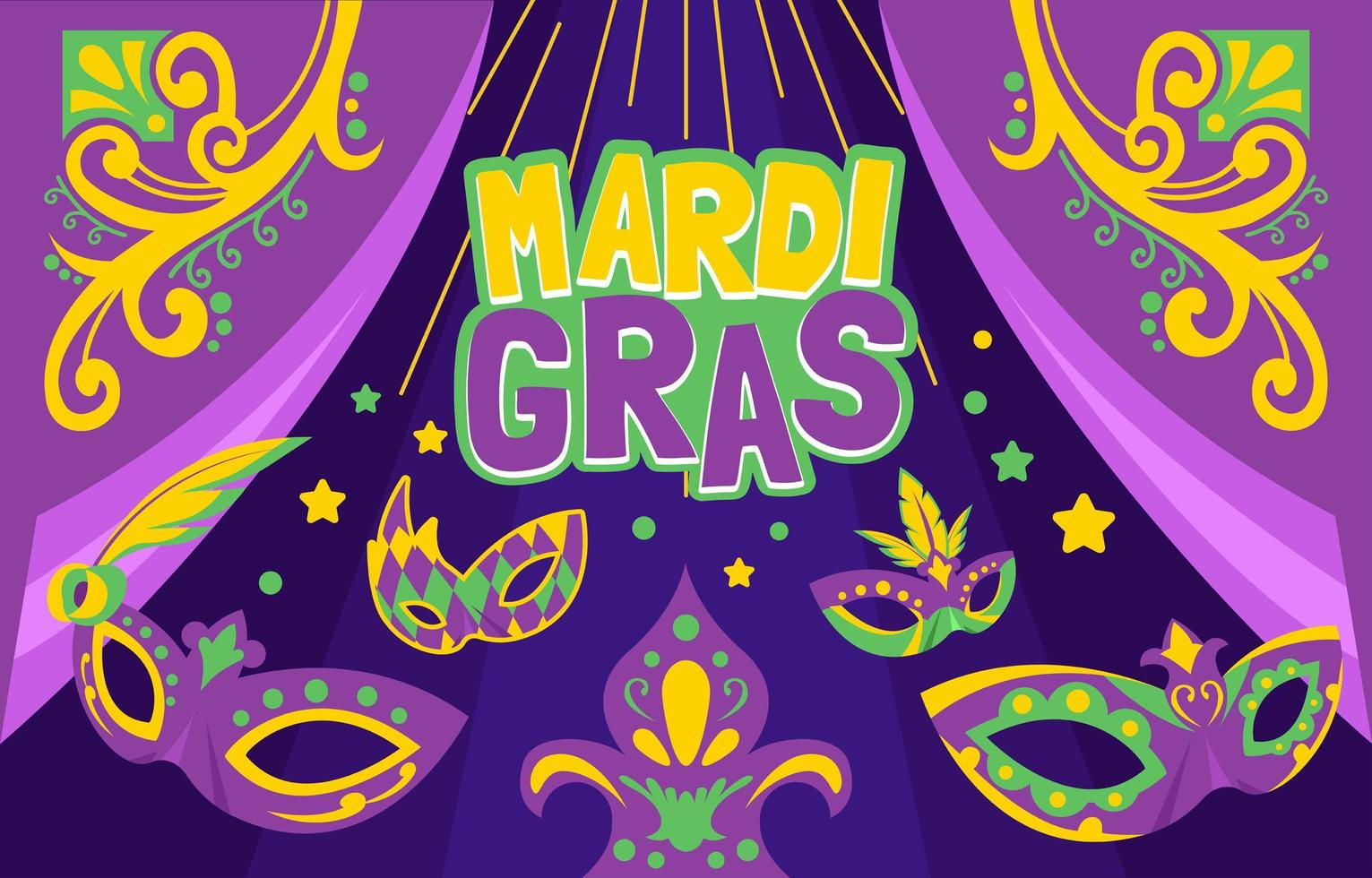 masker van mardi gras achtergrond vector