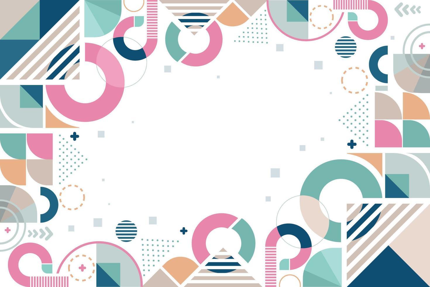 geometrisch ontwerp met pastelkleuren vector