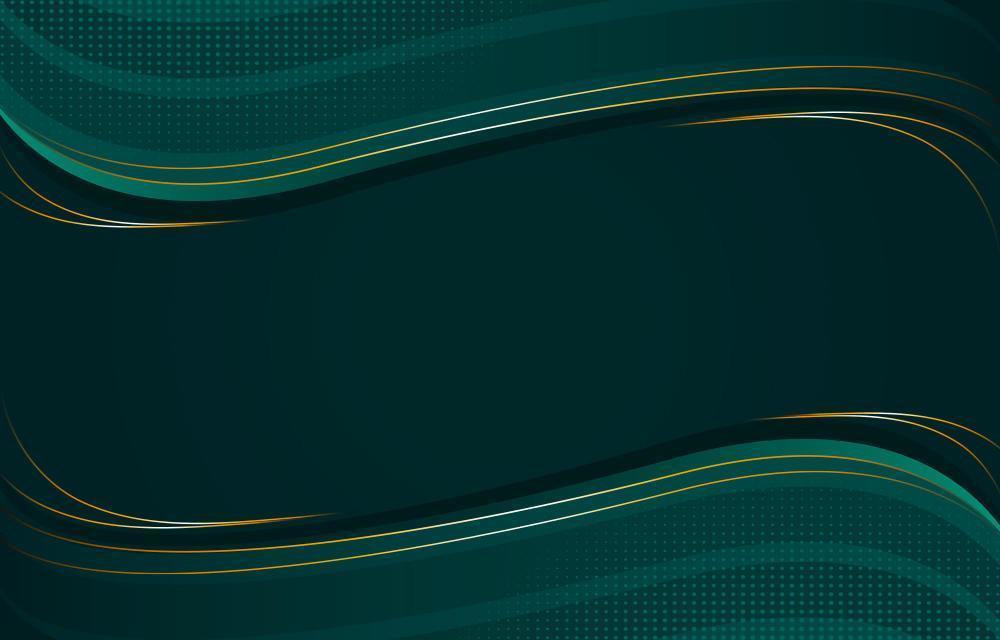 elegante groene achtergrond met gouden details vector
