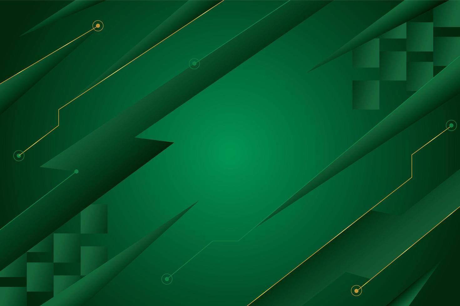 groene achtergrond met zigzageffect vector