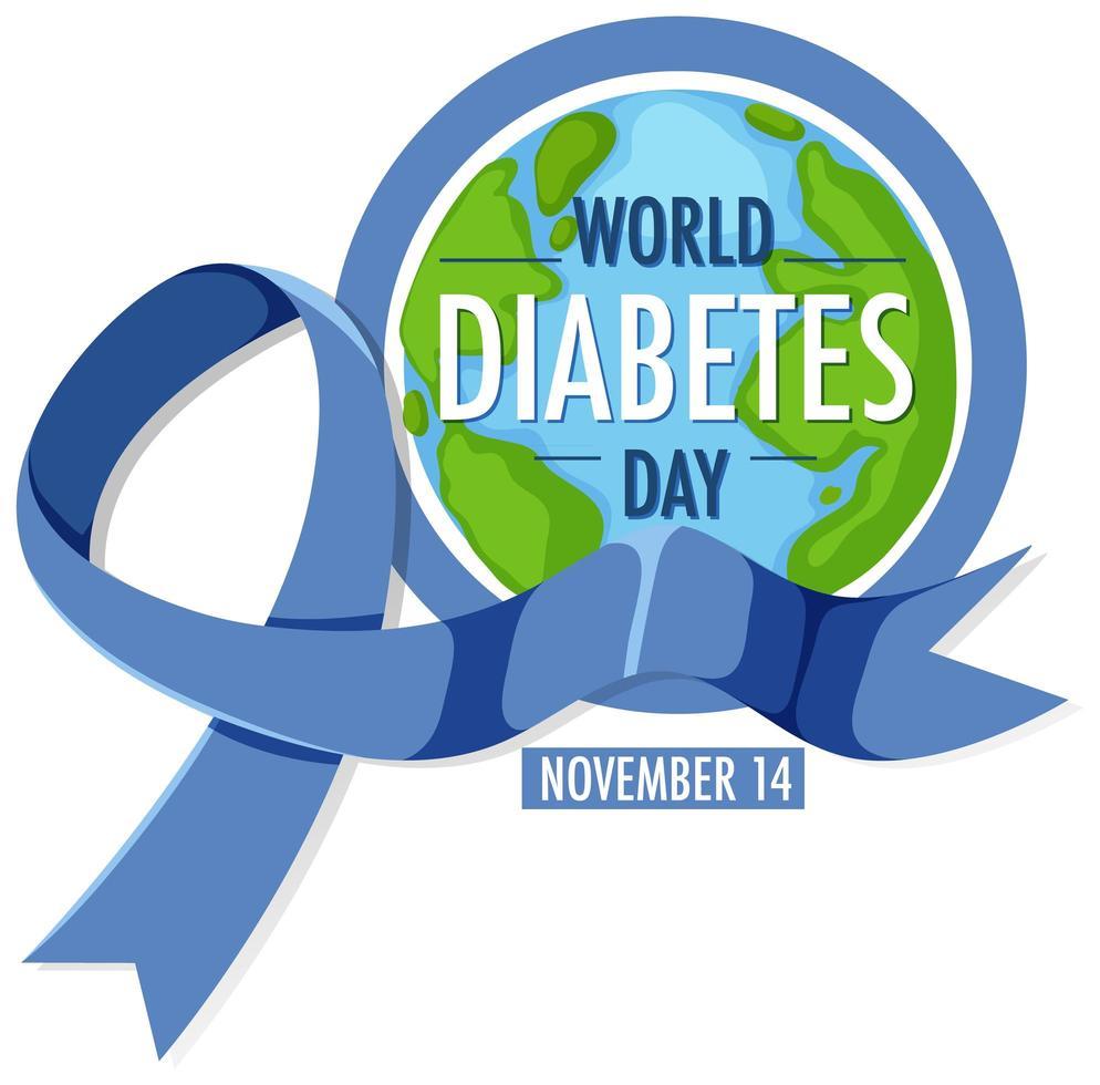 wereld diabetes dag poster vector