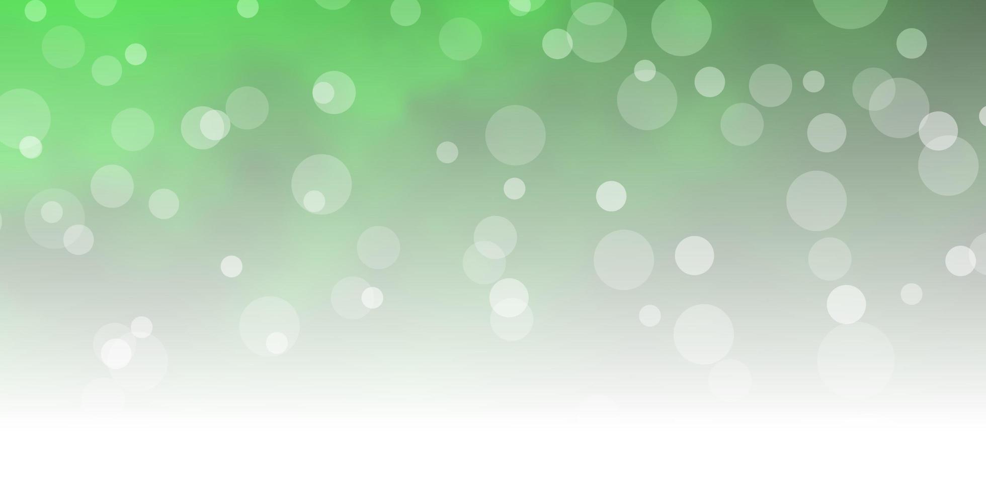 lichtgroene textuur met cirkels. vector