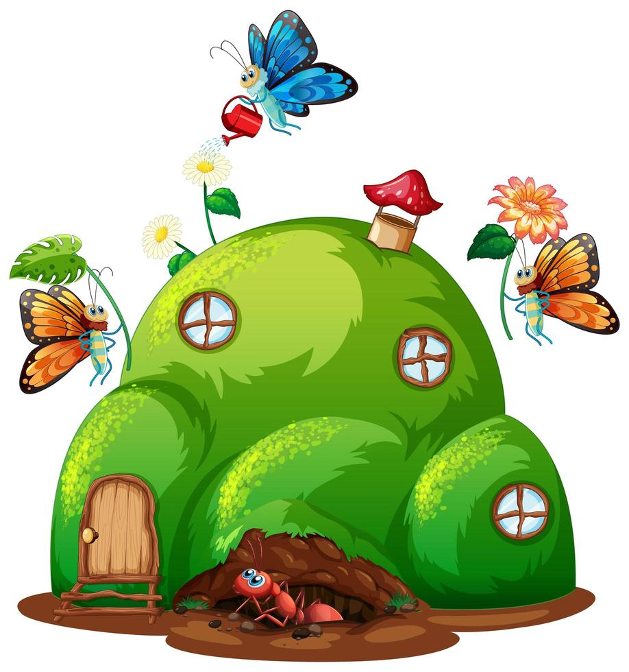 tuinieren thema met insecten vector