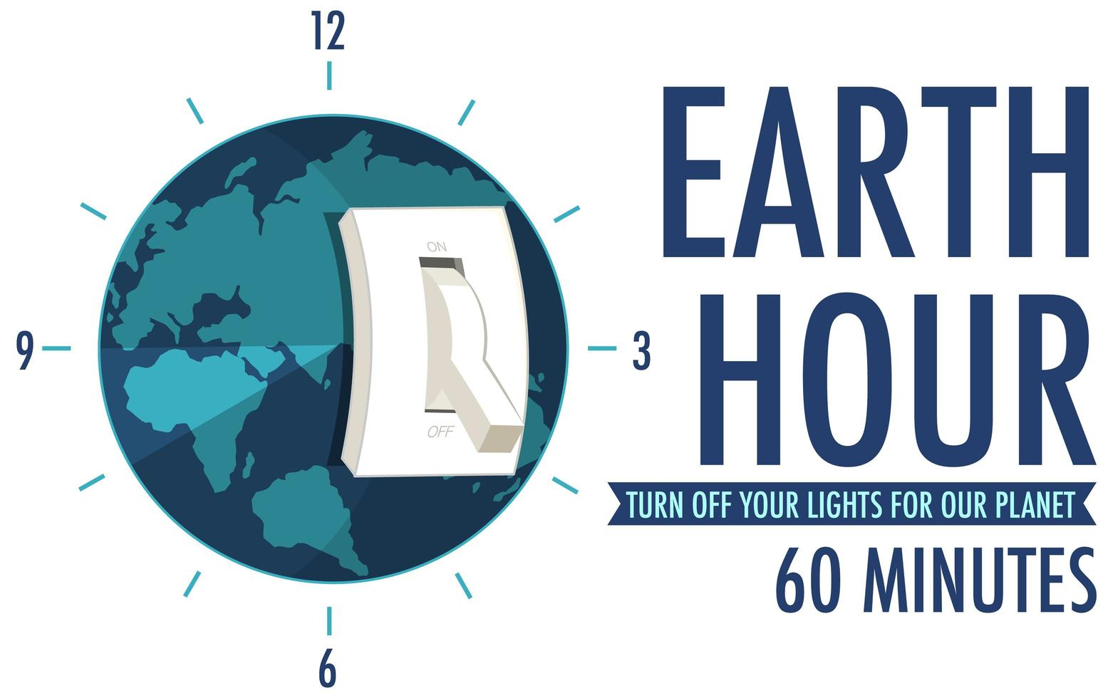 Earth Hour-campagneposter vector