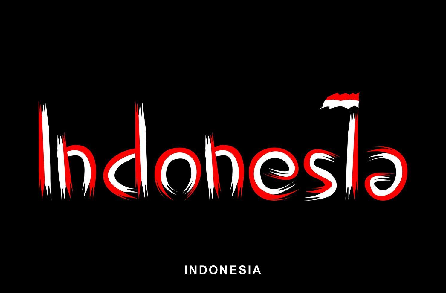 Indonesisch rood en wit geschilderde penseel vector