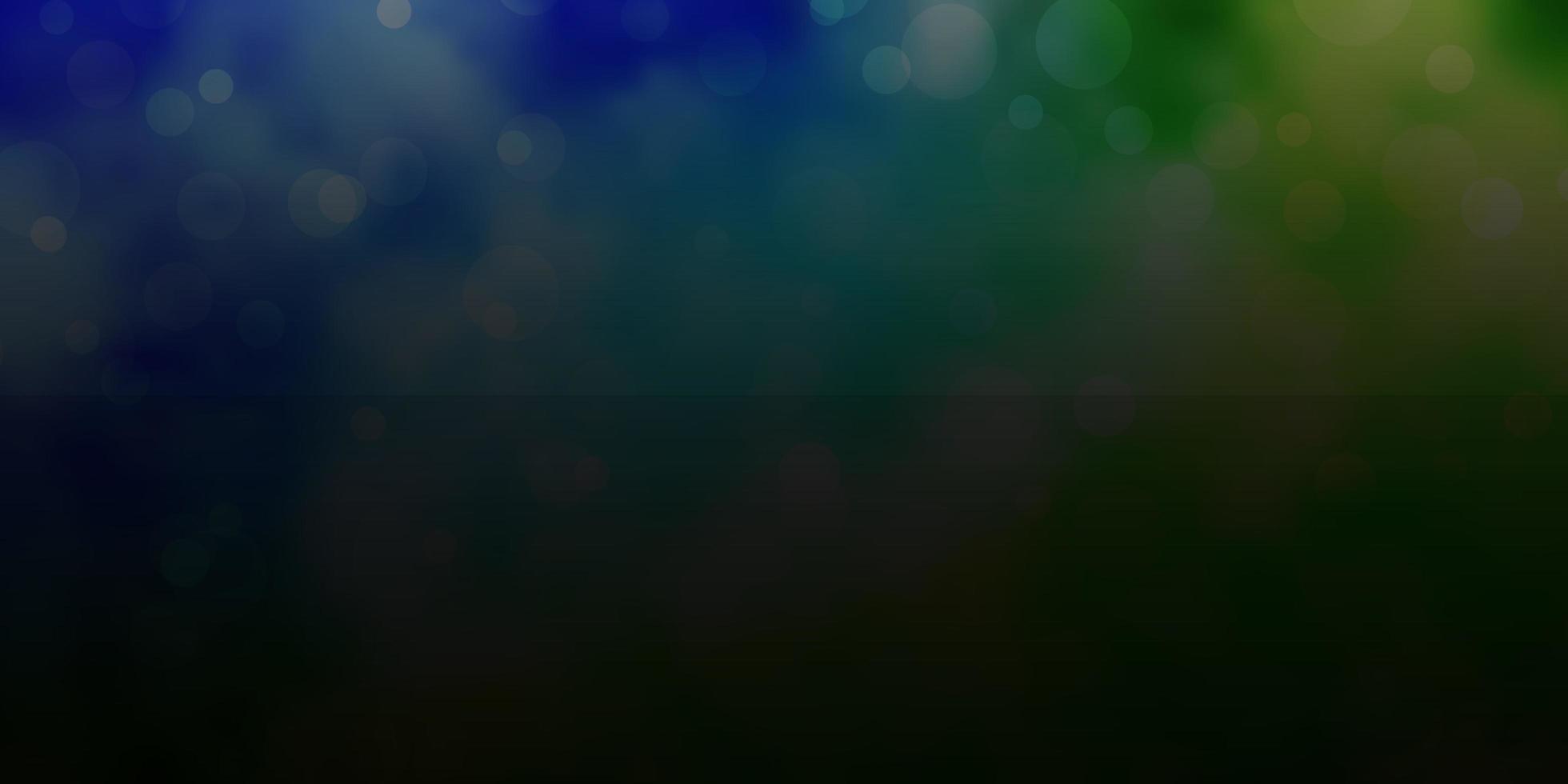 blauw en groen patroon met cirkels. vector