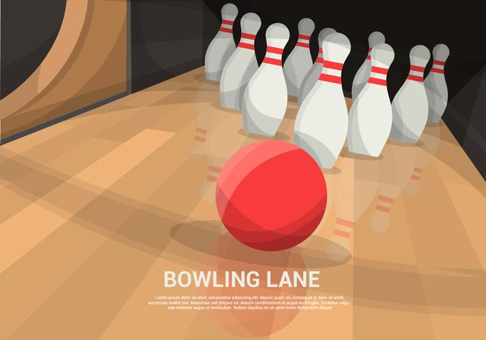Bowling Lane Vector Achtergrond