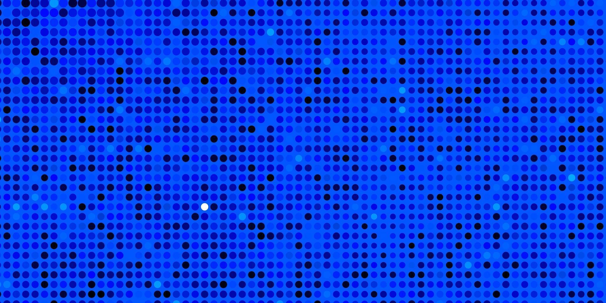 blauw patroon met cirkels. vector