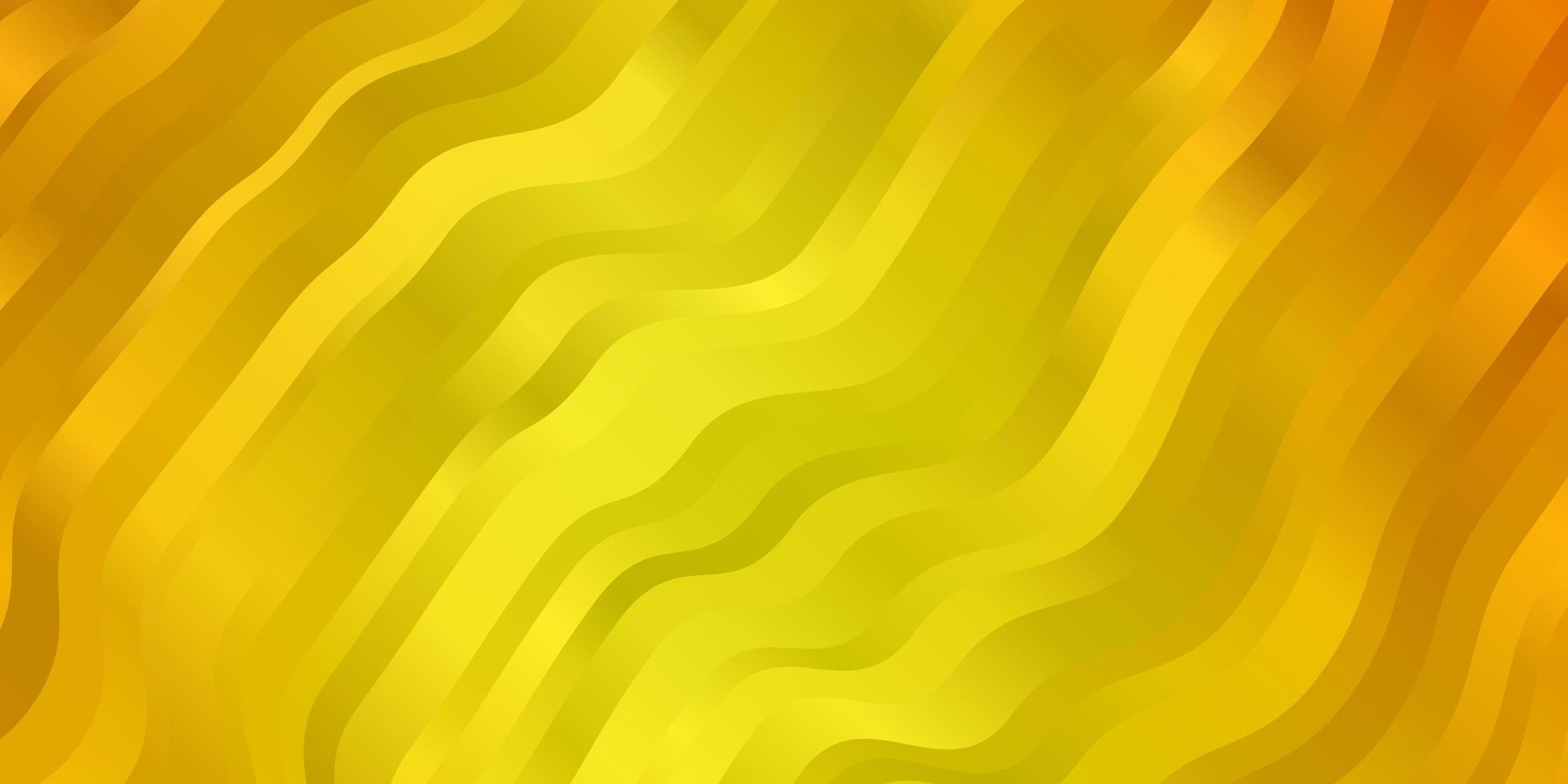 gele achtergrond met gebogen lijnen. vector