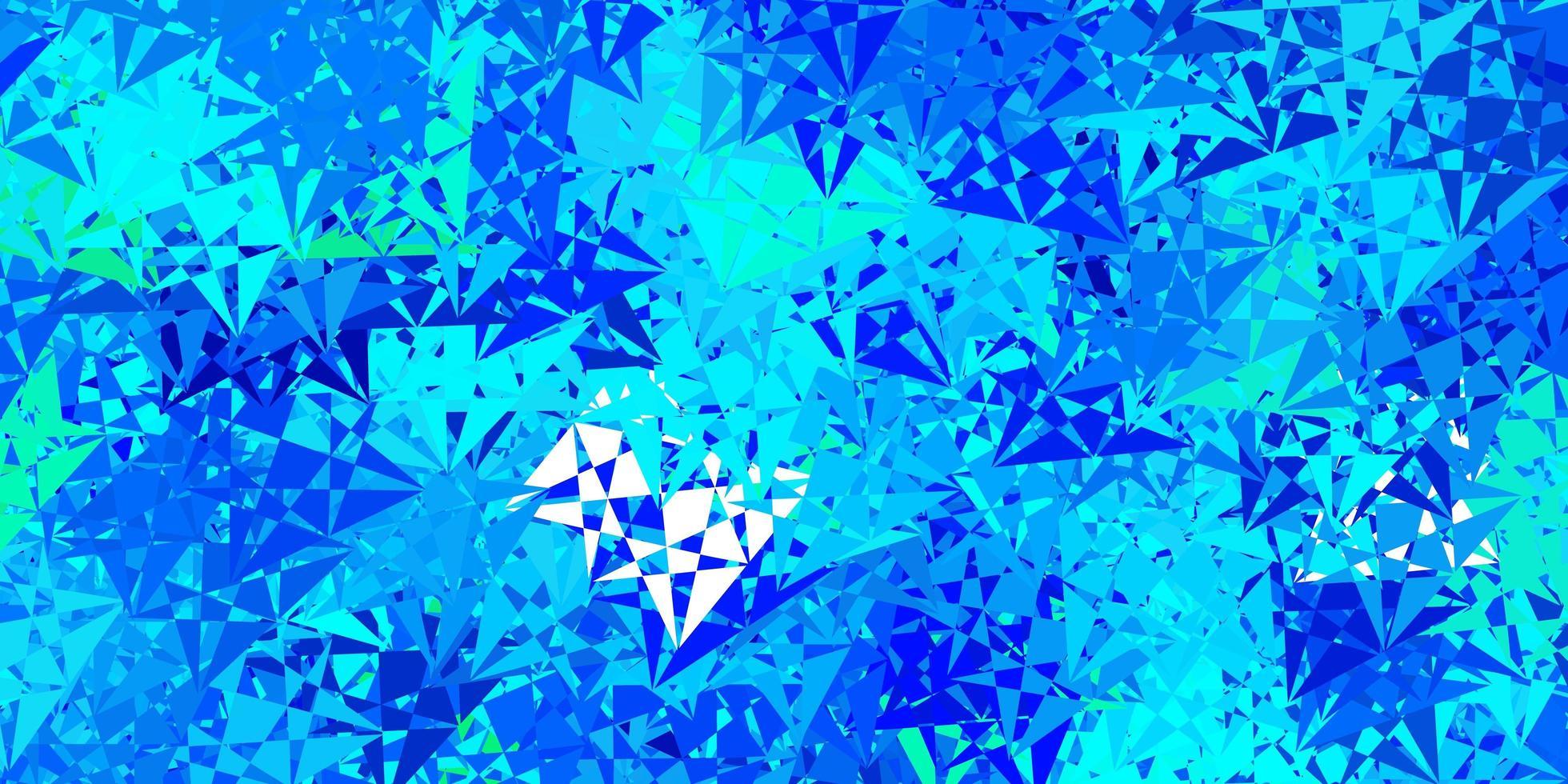 blauwe en groene achtergrond met driehoeken. vector