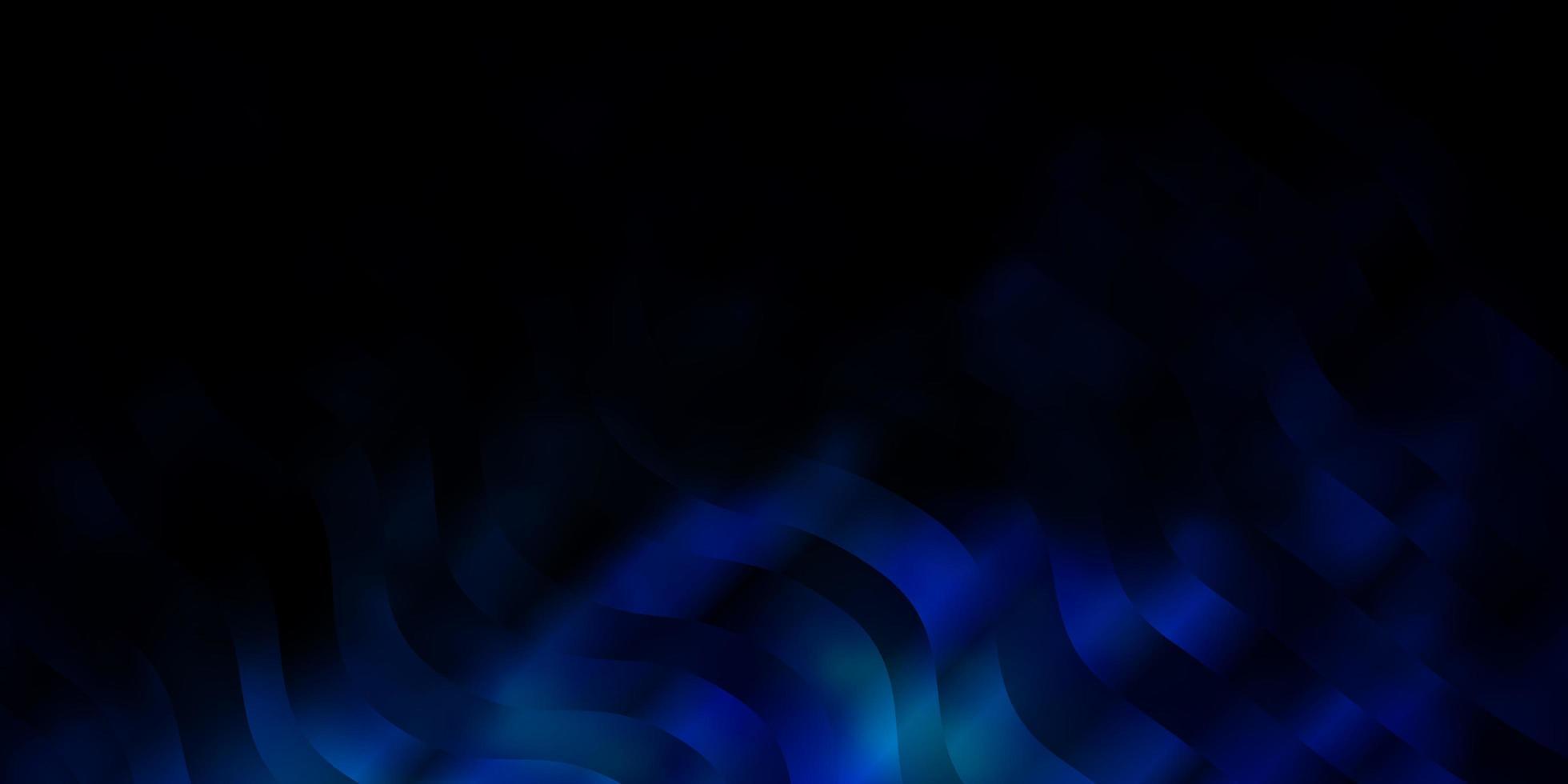 donkerblauwe achtergrond met gebogen lijnen. vector