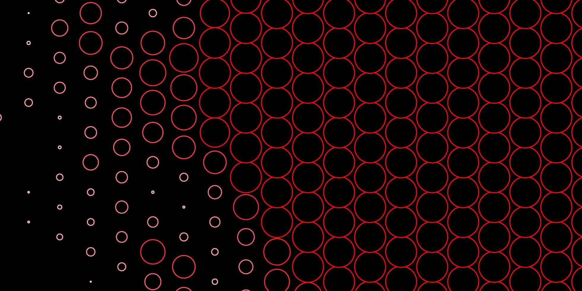 rood omlijnde cirkels op donkere sjabloon vector