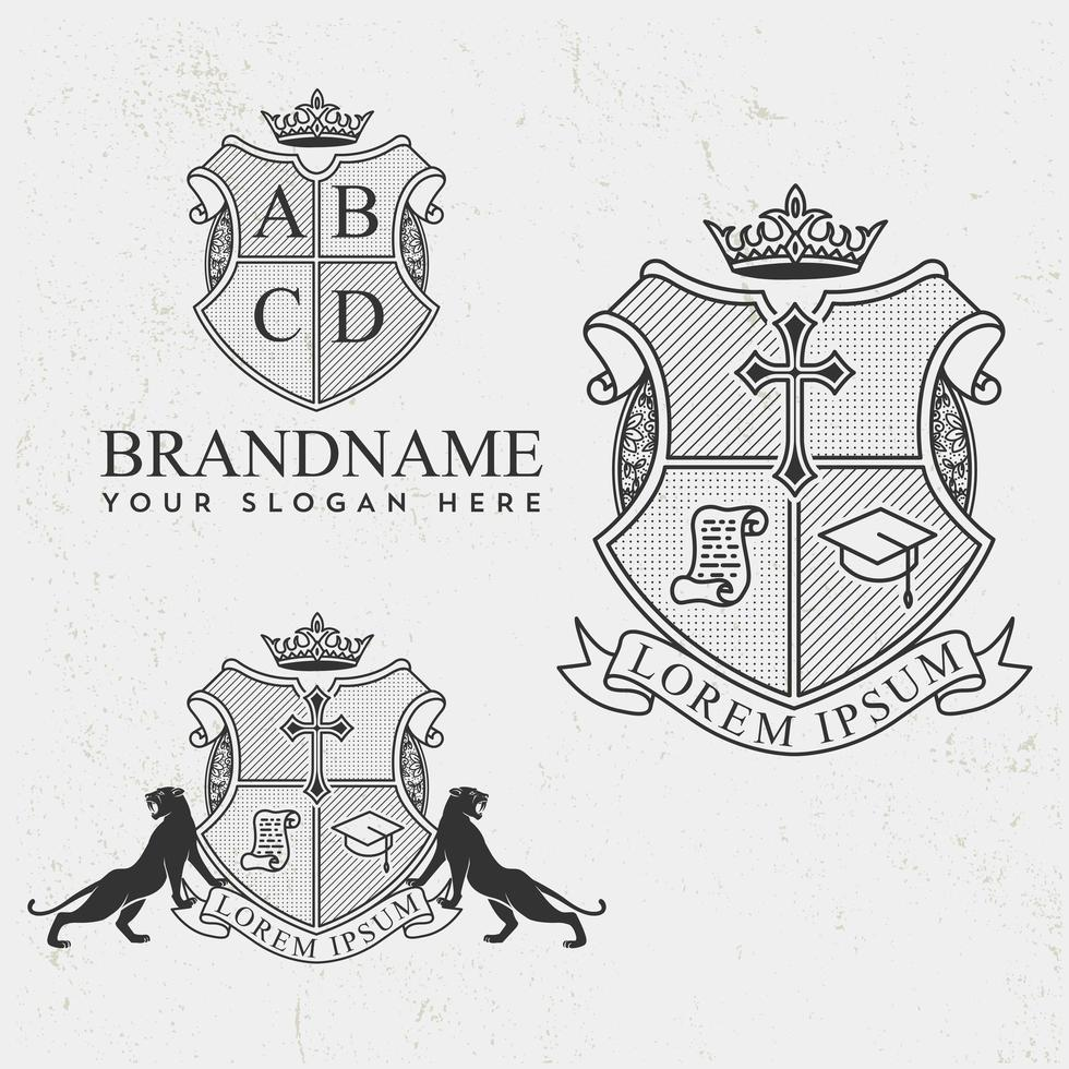 Royal Crest ontwerpset vector