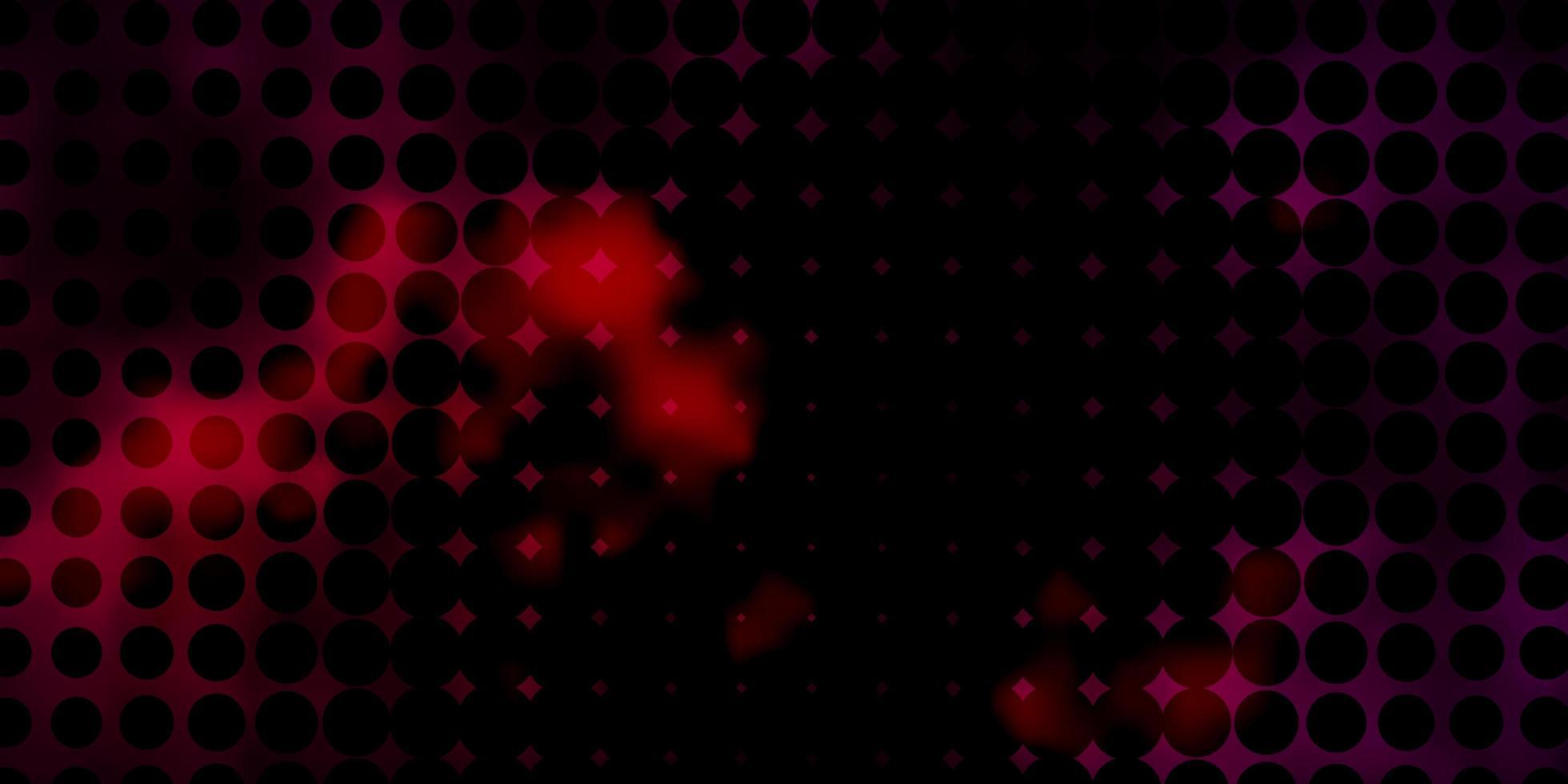 donkerrode textuur met cirkels. vector