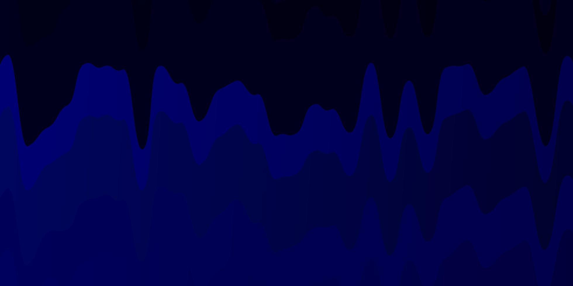 donkerblauw sjabloon met lijnen. vector