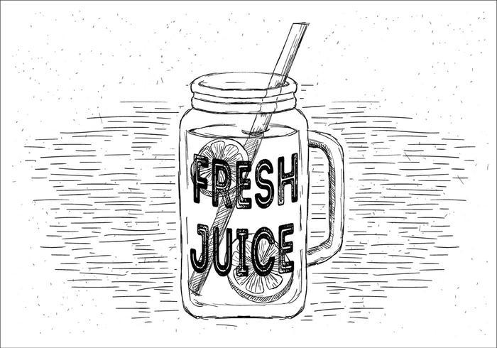 Gratis verse limonade Vector Jar Illustration
